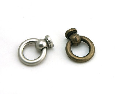 RP015N -Mini 1 Inch Knobs Antique Cabinet Drawer Drop Ring Pulls Cupboard Handle