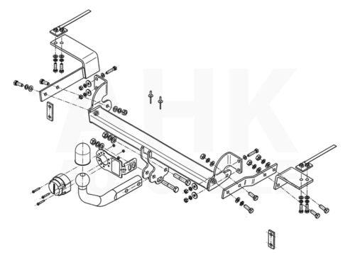 Für Fiat 500 Cabrio Anhängerkupplung starr+ES 13p ABE