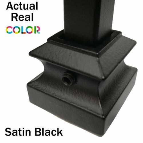 10-Pack Hollow Metal Spindles Satin Black Plain Bar Stair Iron Balusters