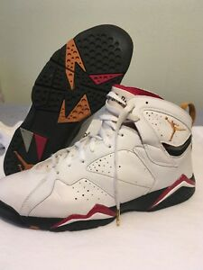 sports shoes 60740 34f9c Details about Air Jordan 7 Retro White/Cardinal Red (2006) size 11-no box