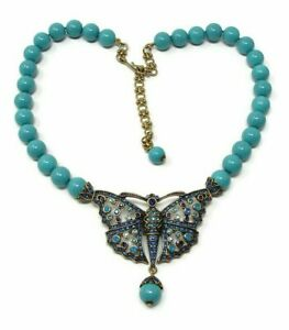 Heidi-Daus-Butterfly-Monarch-Madness-Turquoise-Crystal-Beaded-Necklace