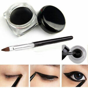 Waterproof-Eye-Liner-Eyeliner-Shadow-Gel-Makeup-Cosmetic-Brush-Black-New