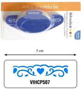 Borduerenstanzer-Motivstanzer-Hebelstanzer-Fries-Herz-Swirls-Artemio-VIHCP507