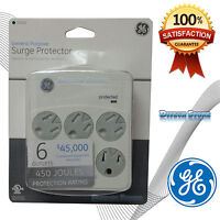 Ge 94000 6 Outlet 312 Joules Surge Protector