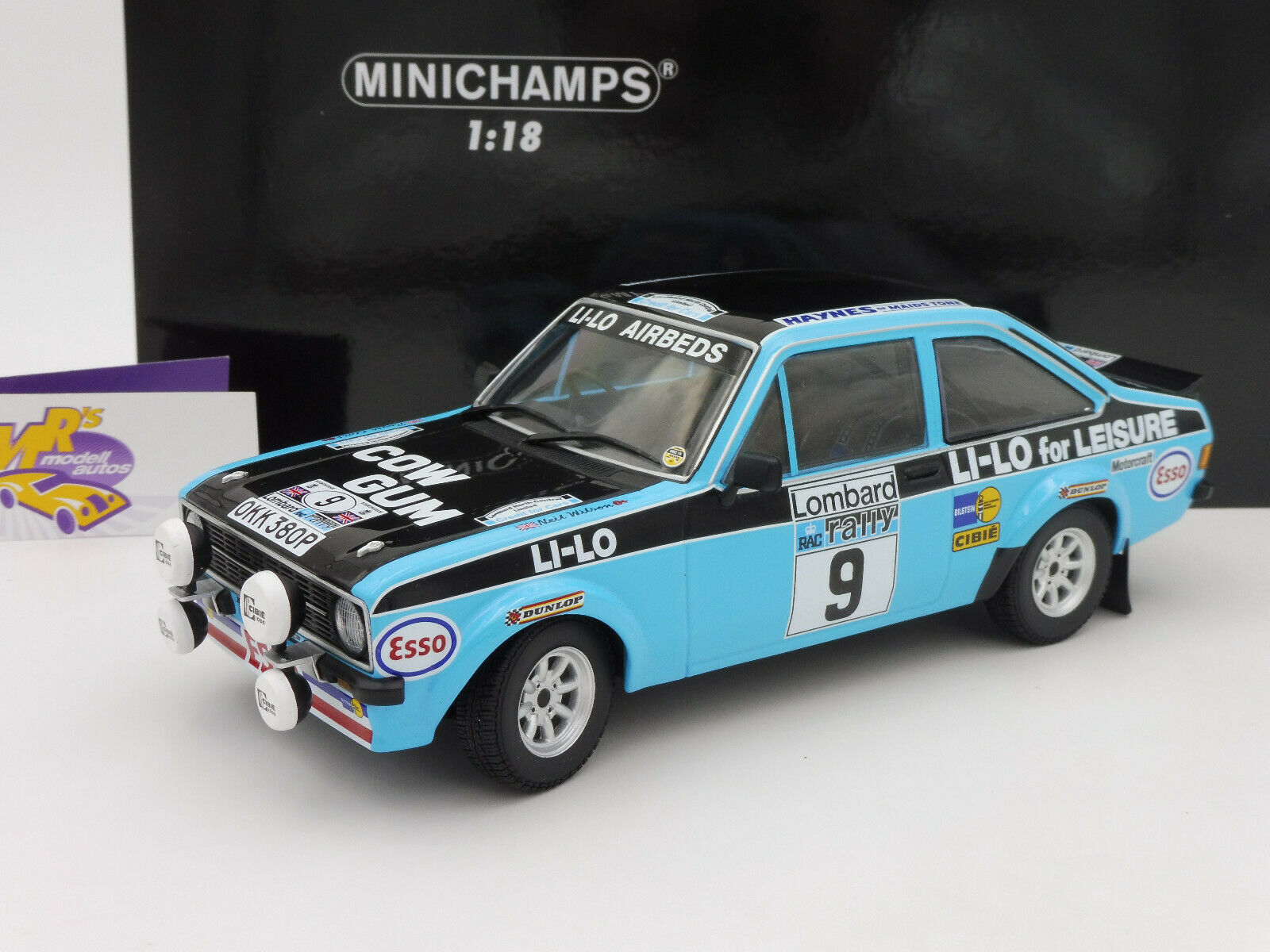 MINICHAMPS 155788709   FORD ESCORT 2 RS 1800 RAC  RALLY 1978 Clark-Wilson 1 18  confortable