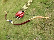 Good choice Handmade longbow 20# -60# Archery longbow+6 wooden arrow recurve bow