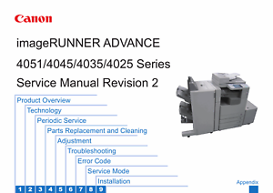 canon imagerunner advance 4025 4035 4045 4051 service and parts rh ebay com canon ir adv 4045 service manual Canon Ir4045