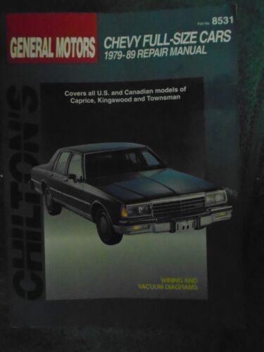 gmc chevy caprice classic impala 1979 1989 chilton workshop manual rh ebay com 89 Chevy Caprice Back 89 Caprice Bolt Pattern