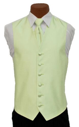 X-Large Long Mens After Six Aries Mint Fullback Prom Wedding Tuxedo Vest /& Tie