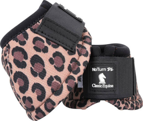 Classic Equine Cheetah Print Dy-No Turn Bell Boots