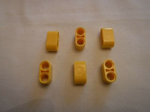 6 x NEW LEGO LIFTARM 1 x 2 THICK PART No 4187122 YELLOW