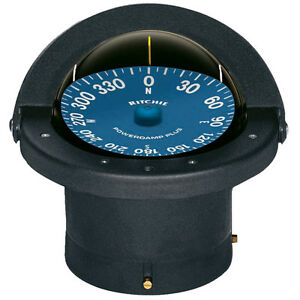 Ritchie-Marine-SS2000-SuperSport-Flush-Mount-Boat-Compass-Black-4-1-2-034-Flat-Dial