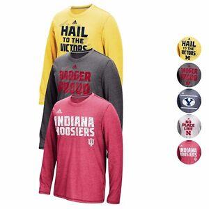 NCAA-Adidas-Sideline-Climacool-Energy-Aeroknit-Longsleeve-Shirt-Collection-Men-039-s