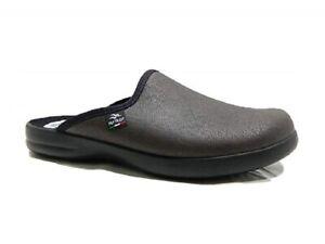 FLY-FLOT-P7502-2D-Pantofole-Uomo-Invernali-Ciabatta-Chiusa-avanti-Moro-Italy