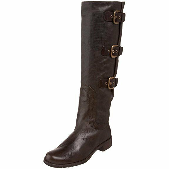 Stuart Weitzman Woman Ludlow Canvas Leather Knee Stiefel MGold 10.5 NEW IN BOX