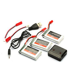 3pcs Upgrade 3.7V 1100mAh Lipo-Battery JJRC H11D + USB Cable RC Parts US Stock