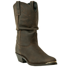 DINGO WOMENS MARLEE SLOUCH COWBOY DISTRESSED LEATHER BROWN BOOTS DI7542 NIB