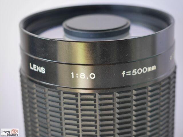 Spiegel-Objektiv Exakta Mirror Lens 500mm 1:8 multicoated Macro 1:2,7 für Canon
