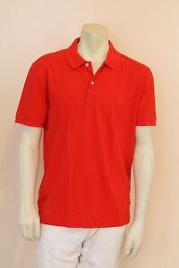c7bea6a1 Gap Men's The Modern Short Sleeve Red Pique Polo Shirt NwT L XL | eBay
