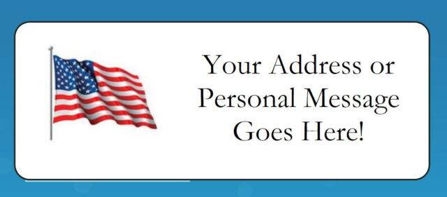 personalized usa flag return address labels envelope seals ebay