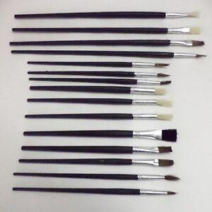 12pc Artistes Peinture Brush Set Fine Huiles Couleurs Brosses Kit Huile Artisanat Et Arts Nouveau-afficher Le Titre D'origine Pure Blancheur
