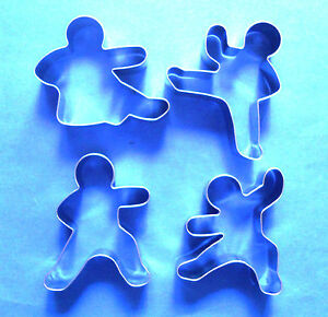 Kung Fu action special baking biscuit cookie cutter mold 4 pcs/set