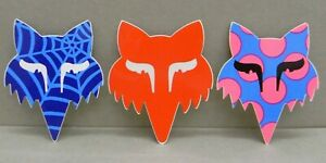 3x-Sticker-Decal-FOX-racing-with-org-back-90-00-039-s-08031