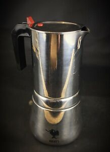 Rare-a-clavette-rouge-cafetiere-vintage-BIALETTI-inox-18-10-8-a-10-tasses
