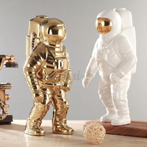 Ceramic Space Man Sculpture Astronaut Cosmonaut Vase Ornament Statue Money