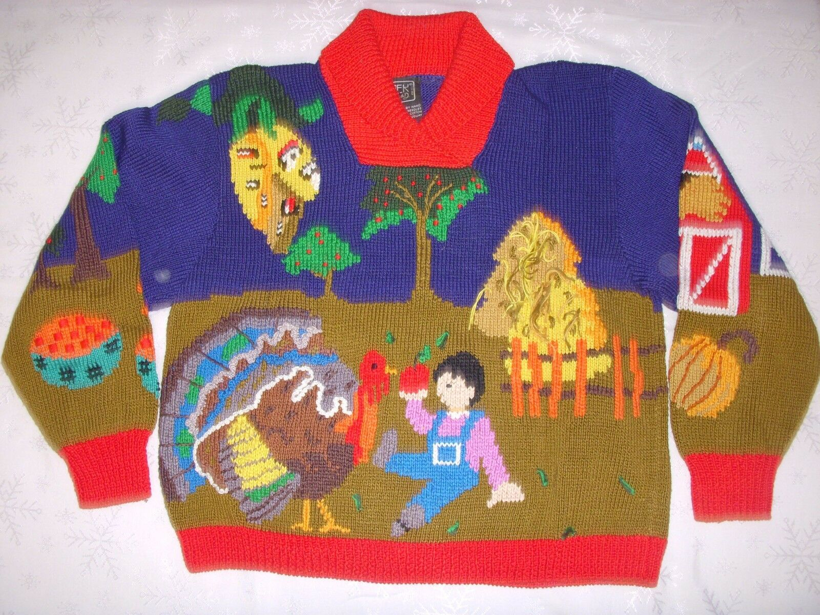 Berek Collectible Sweater, Thanksgiving Fall Theme Size S