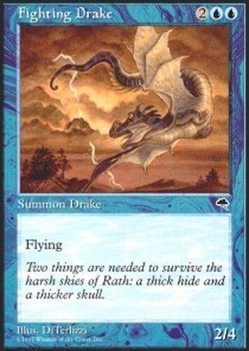 4x Fighting Drake MTG Tempest NM Magic Regular
