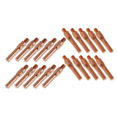 10 Pieces 45mm Contact Nozzle Tip for MAG//MIG Gas Shielded Welder Fit 0.8mm