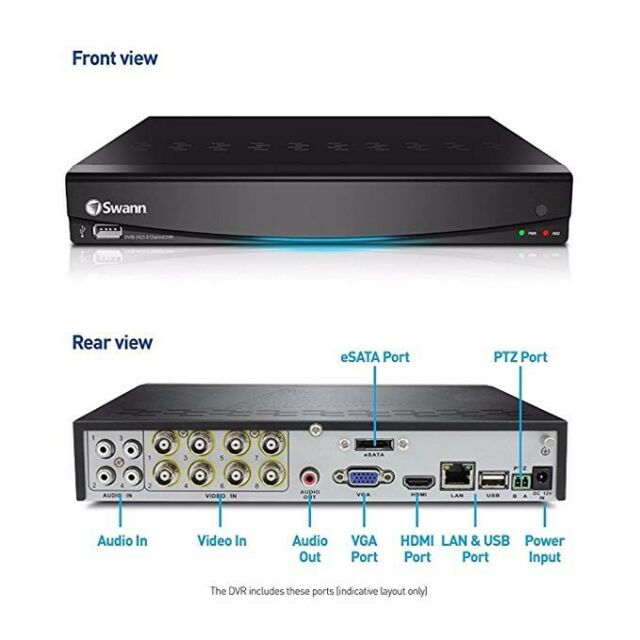 Swann SWDVR-83450 DVR8-3425 8 Channel 960H Security DVR with 500GB Hard Drive