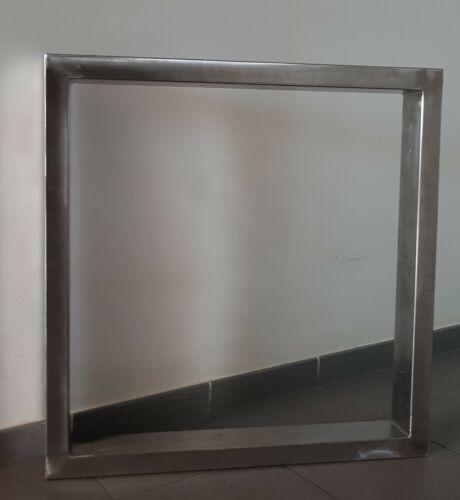 Tischgestell Edelstahl V2A 72 cm X 70 cm  80mm X 40mm 2 Stücke 1 Paar