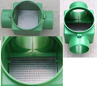 Zisternenfilter Regenwasserfilter F100L mit Edelstahlspaltsieb und Zulauftopf