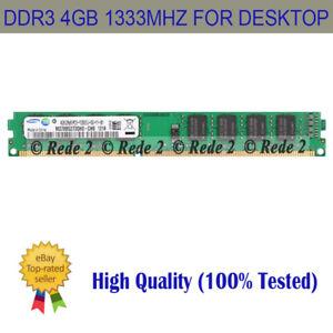 For Kingston 4GB PC3-10600 DDR3 1333MHZ DIMM 240Pins Desktop Memory CL9 AMB2