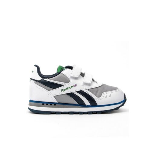 WHITE//TIN GREY//ATHLETIC NAVY Reebok Dash Runner 2V Toddler Shoes J98007