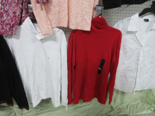 10 WOMEN SHIRT SIZE LARGE TOPS LADIES JACLYN SMITH ATTENTION DRESS BLOUSES LOT