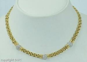 Collier-Hals-Kette-Diamanten-diamonds-aus-750-18K-Gold-necklace-Brillant