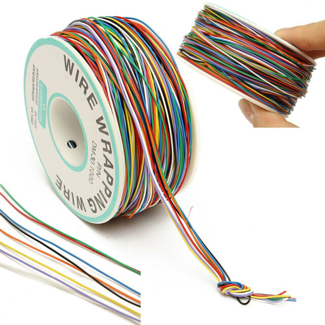 250M 8-Wire Colored Insulated P/N B-30-1000 30AWG Wire Wrapping Cable Wrap Reel