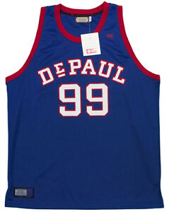 588a83851 Image is loading NEW-DePaul-University-Blue-Demons-Authentic-Throwback- Jersey-