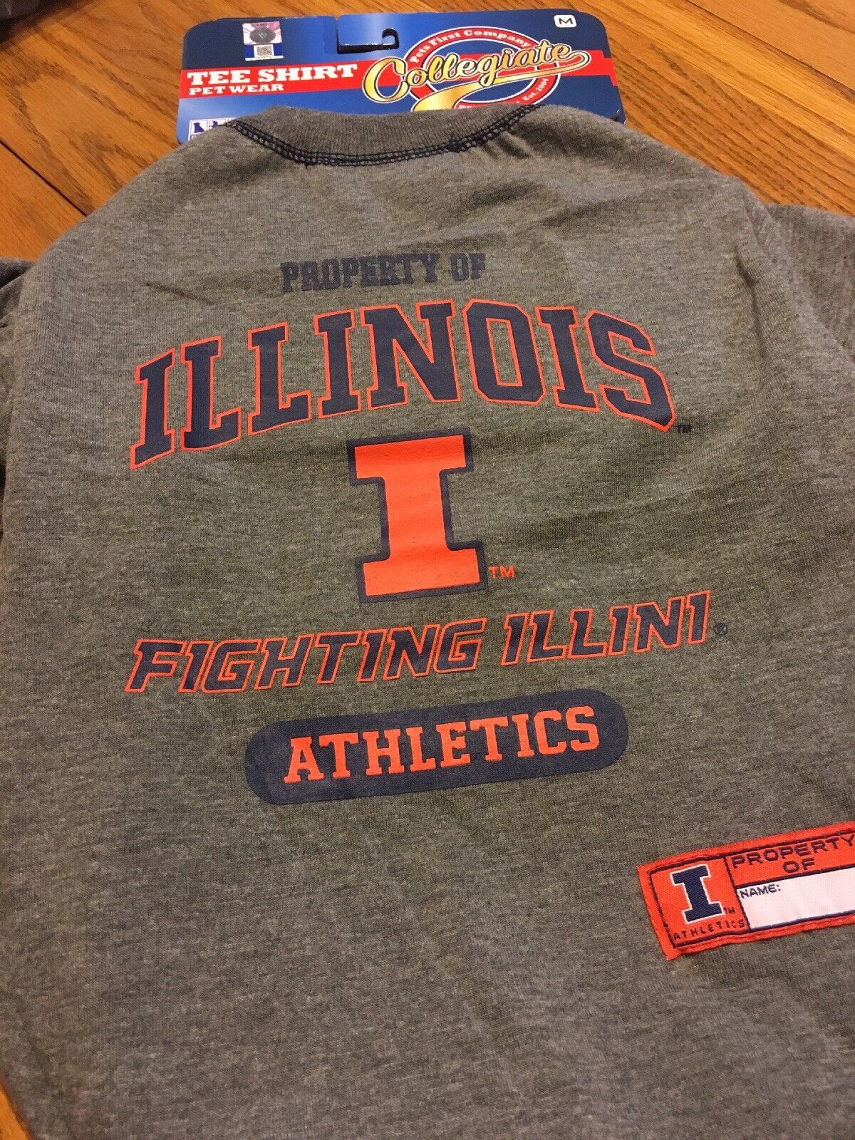 Pet Wear Tee-Shirt Property Of Illinois Athletics.