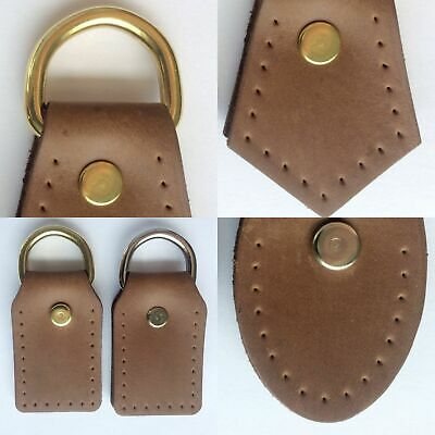 18-1812 2.5 byhands D-Ring with 100/% Genuine Leather Brown Tab Attachment