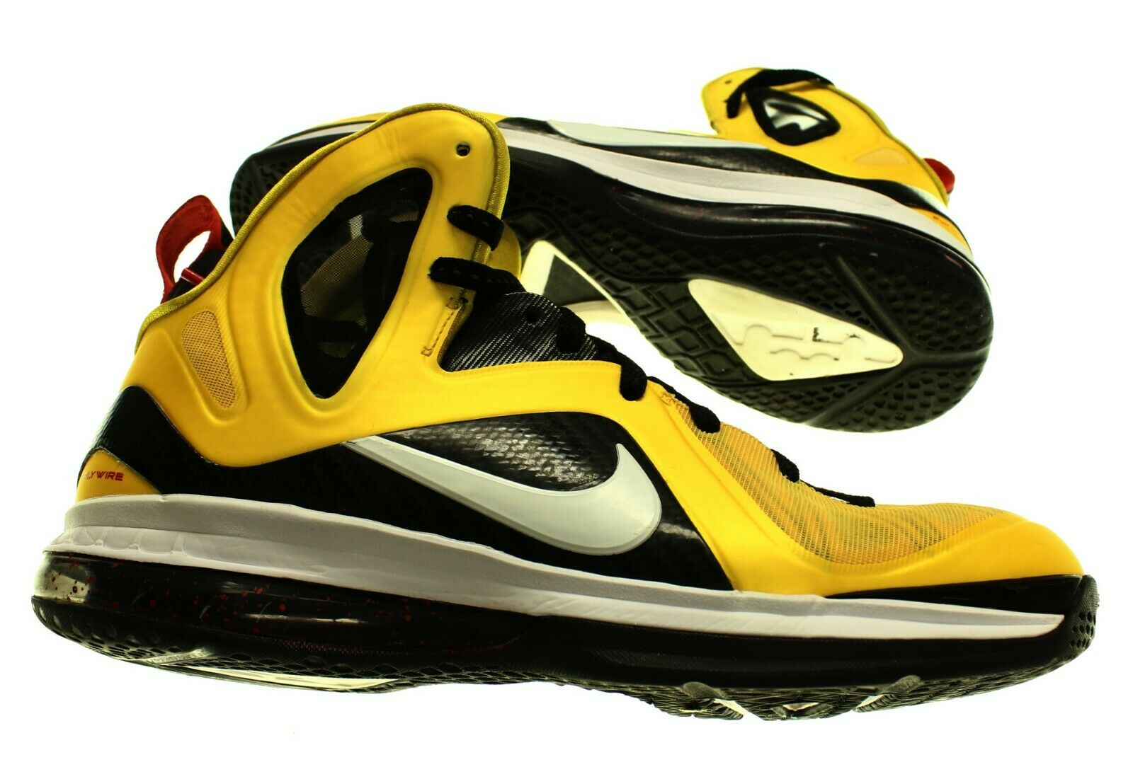 NIKE Men's LEBRON 9 P.S. ELITE Yellow Black White BASKETBALL SHOE - US 10.5