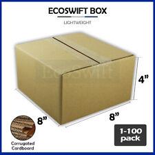 1 100 8x8x4 Ecoswift Cardboard Packing Mailing Shipping Corrugated Box Cartons