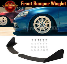 ABS Universal Front Bumper Lip Splitters Black Winglet Blade For Mitsubishi