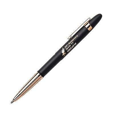 Fisher Space Pen Bullet CHROME Ball Pen with CLIP Personalised ENGRAVED Gift