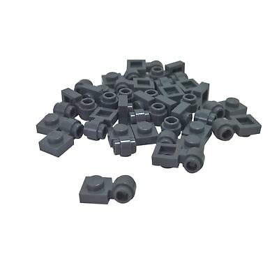 50 NEW LEGO Plate Modified 1 x 1 Clip Vertical Typ4 thick open O clip db gray