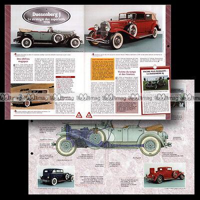 #hsa.001.09b Duesenberg J 1928 Classic Car Fiche Auto