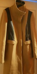 BNWT ZARA Contrasting Faux Suede Jacket Coat XS S M L Black Camel 6318//227